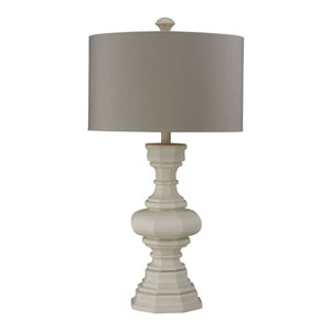 Grace Parisian Plaster Table Lamp with Light Gray Shade