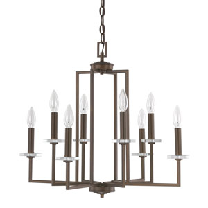 Loring Bronze Eight-Light 24-Inch Chandelier