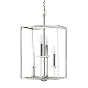 Loring Polished Nickel Four-Light 12-Inch Pendant