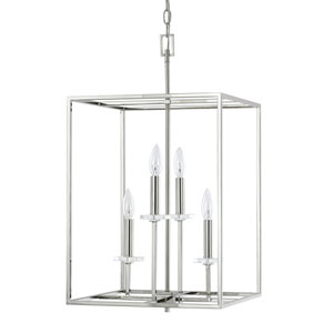 Loring Polished Nickel Four-Light 15-Inch Pendant