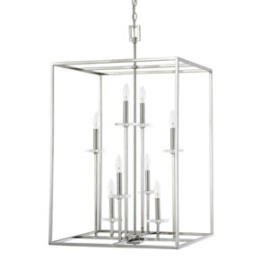 Loring Polished Nickel Eight-Light 22-Inch Pendant