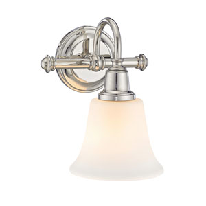 Evelyn Polished Nickel One-Light Wall Sconce
