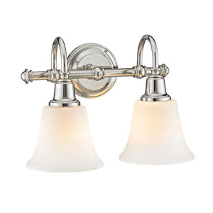 Evelyn Polished Nickel Two-Light Wall Sconce