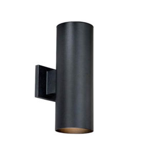 Nicollet Textured Black Two-Light Outdoor Wall Mount