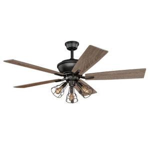 Knox Bronze 52-Inch Three-Light Ceiling Fan