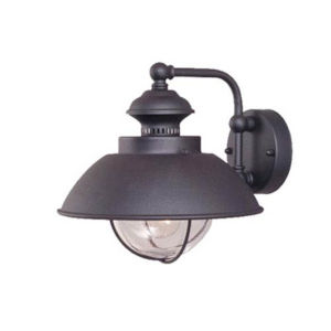 Knox Textured Black 12-Inch One-Light Outdoor Wall Mount