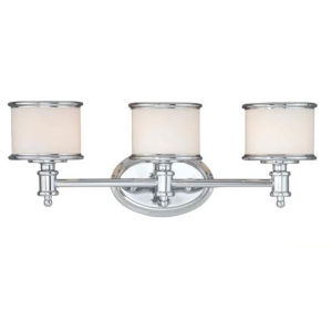 Eloise Chrome Three-Light Bath Vanity