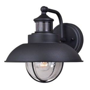 Knox Textured Black 10-Inch One-Light Outdoor Wall Mount