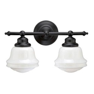 Oxford Oil Rubbed Bronze Two-Light Bath Vanity