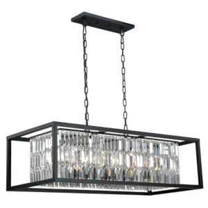 Felix Oil Rubbed Bronze Eight-Light Chandelier