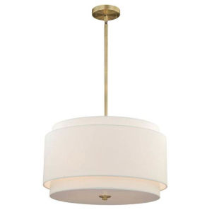 Nora Matte Brass Four-Light Pendanr