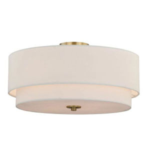 Nora Matte Brass Four-Light Semi Flush Mount