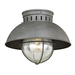 Knox Textured Gray One-Light Outdoor Flush Mount
