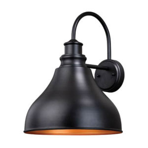 Knox Oil Burnished Bronze and Gold One-Light Outdoor Wall Mount