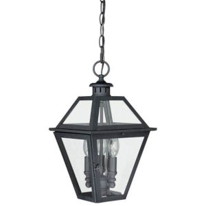 Bryant Textured Black Three-Light Outdoor Pendant