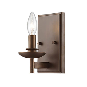 Ava Rubbed Bronze 5-Inch One-Light Wall Sconce
