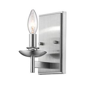 Ava Satin Nickel 5-Inch One-Light Wall Sconce