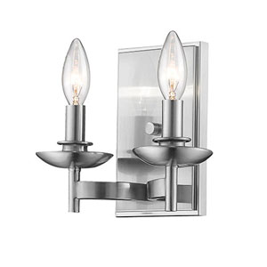 Ava Bronze Two-Light Wall Sconce