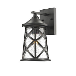 Eloise Powder Coat Black One-Light Outdoor Wall Mount