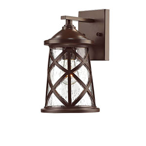 Eloise Powder Coat Bronze One-Light Outdoor Wall Mount