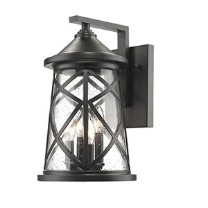 Eloise Powder Coat Black Four-Light Outdoor Wall Mount