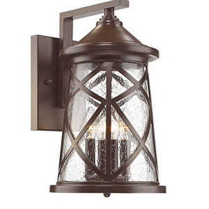 Eloise Powder Coat Bronze Four-Light Outdoor Wall Mount