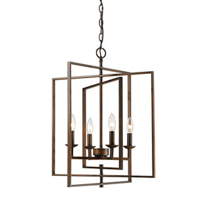 Lyndale Rubbed Bronze 20-Inch Four-Light Pendant