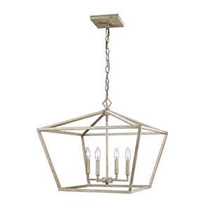 Kenwood Vintage White 23-Inch Four-Light Pendant