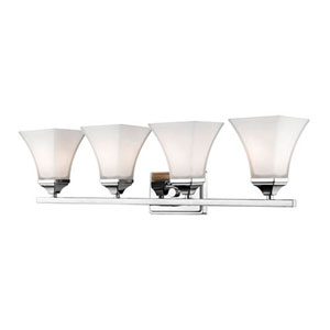 Bryant Chrome Four-Light Bath Vanity
