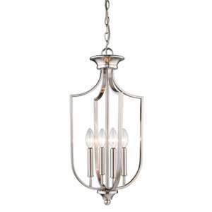 Isles Brushed Nickel 12-Inch Four-Light Pendant