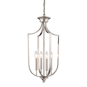 Isles Brushed Nickel 14-Inch Four-Light Pendant