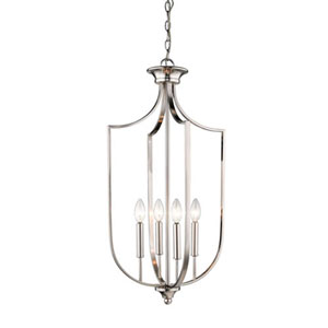 Isles Brushed Nickel 16-Inch Four-Light Pendant