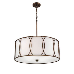 Whitter Rubbed Bronze Four-Light Pendant