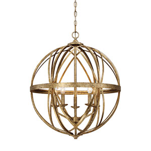 Hazel Vintage Gold Five-Light Pendant