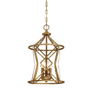 Hazel Vintage Gold Three-Light Pendant