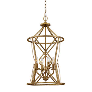 Hazel Vintage Gold Four-Light Pendant