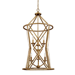 Hazel Vintage Gold Six-Light Pendant