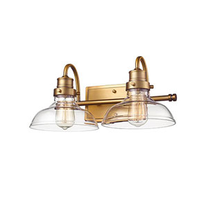 Afton Bronze Two-Light Bath Vanity