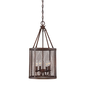 Jackson Rubbed Bronze Four-Light Pendant