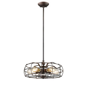 River Station Rubbed Bronze Five-Light Pendant