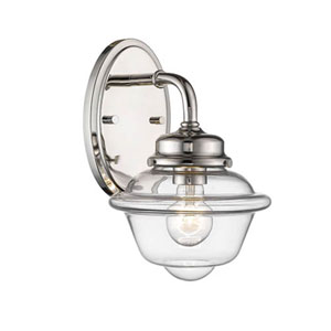 Fulton Polished Nickel One-Light Wall Sconce
