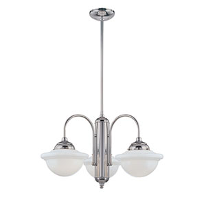 Fulton Chrome Three-Light Outdoor Chandelier