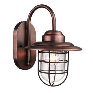 Revolution Natural Copper 9-Inch One-Light Outdoor Wall Mount