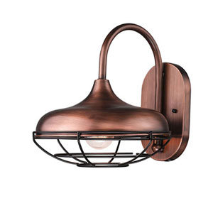 Revolution Natural Copper 10-Inch One-Light Outdoor Wall Mount