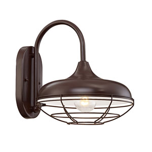 Revolution Architectural Bronze One-Light Outdoor Wall Mount