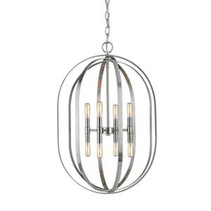 Pax Brushed Nickel Eight-Light Pendant