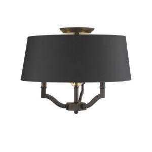 Lyndale Bronze Three-Light Convertible Semi-Flush Mount with Tuxedo Shade