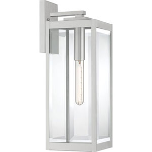 Pax Stainless Steel 20-Inch One-Light Outdoor Lantern with Beveled Glass