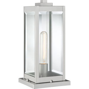 Pax Stainless Steel One-Light Outdoor Pier Base with Beveled Glass