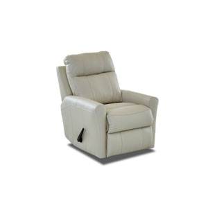 Selby Oatmeal Leather Reclining Rocking Chair